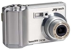 Jaytech SpeedShot D1238 Digitalkamera (12 Megapixel, 4-fach opt. Zoom, 6,4 cm (2,5 Zoll) TFT-Display) silber