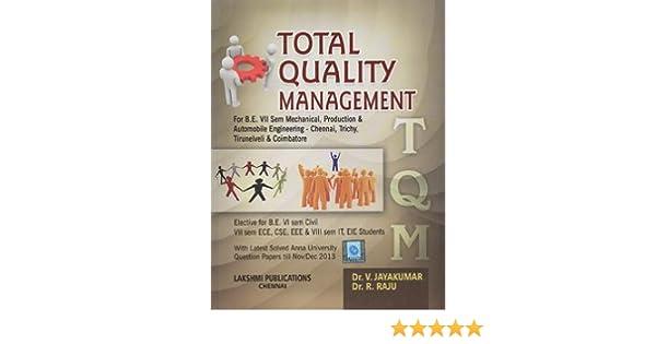 Total Quality Management Author Jayakumar Ebook