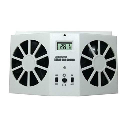 Leobtain Solar Auto Abgaswärme Abluftventilator Double Air Outlet Ersatz Einfach zu Bedienen für den Sommer -
