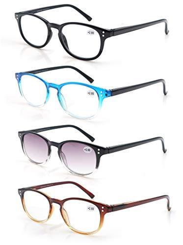 MODFANS Un Pack 4 Gafas Lectura 3.5/Gafas Presbicia