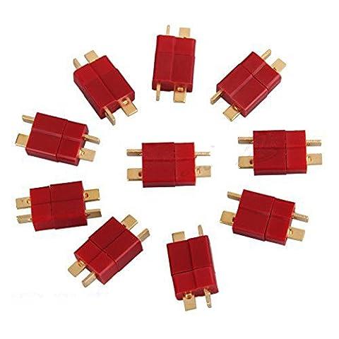 DaoRier Ultra T Plug Connectors T-Stecker Deans Style für RC LiPo Battery, 10 Paar