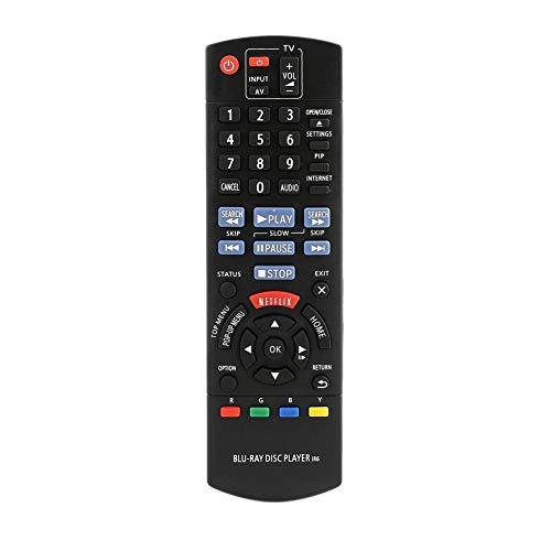 Generp TV-Fernbedienung - Ersatz für Panasonic N2QAYB000867 DMP-BD89 BD79 Blu-ray Disc DVD-Player Smart-TV-Controller Teile mit Low-Power-Chip Schwarz
