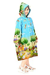 Goodluck Girls Full Sleeve Raincoat (Size 44, 12-13 Years)