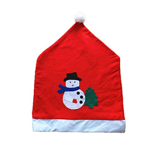 Emmala Weihnachten Santa Red Hat Stuhlhussen Zurück Aufkleber Abdeckung Tisch Unikat Hauptdekorgeschenk Zuhause Ornament Mode Party Simplicity Stuhl Hocker Protektoren (Color : Colour, Size : Size) Red Hats Stretch-hut