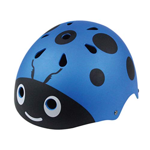 LIOOBO Kinderhelme Marienkäfer Schutzhelm Kopfschutz für Kinder Kleinkind Kinder Ski Fahrrad Skateboard (Größe: 48-54CM Blau)