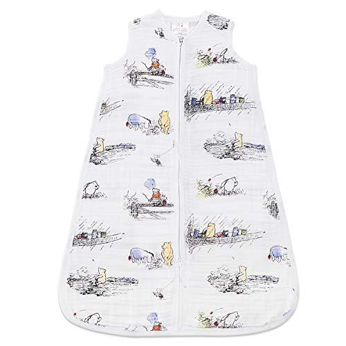 Aden Anais Disney Baby Winnie Puuh, Schlafsack, Musselin aus 100% Baumwolle, 6-12m, 1.0 TOG (Aden Anais Baby Handtücher)