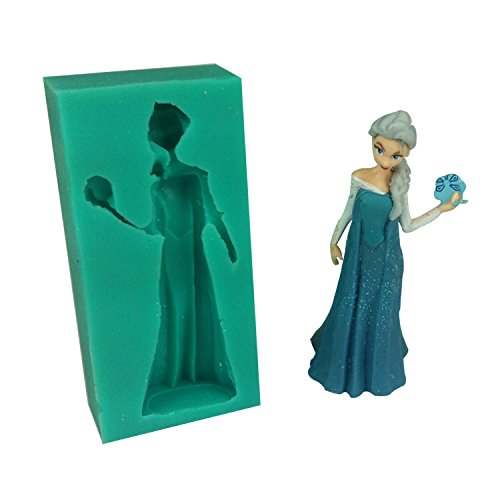 Frozen Sparkle Elsa Silicone Fondant Mold Chocolate Mold Sugar Mold Candy Mold by Picture Yours Unique