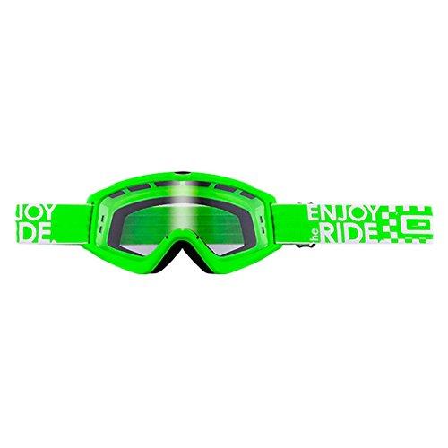 O'Neal B-Zero Goggle Moto Cross MX Brille Downhill Enduro Motorrad Mountainbike, 6025-10, Farbe grün