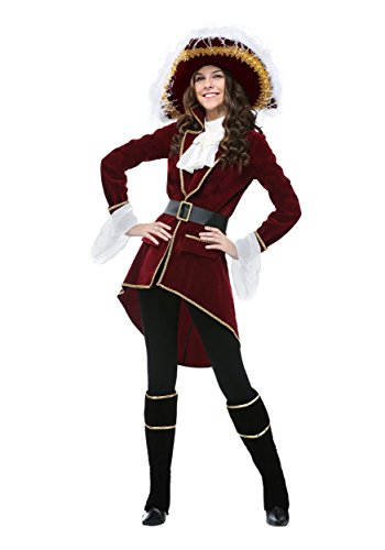 Hook Captain Ladies Kostüm - Women's Captain Hook Fancy Dress Costume Small