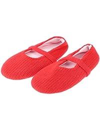 plush slippers El calzado de zapatillas de mujer fralosha piso antideslizante (Azul) d8XbA3RLX