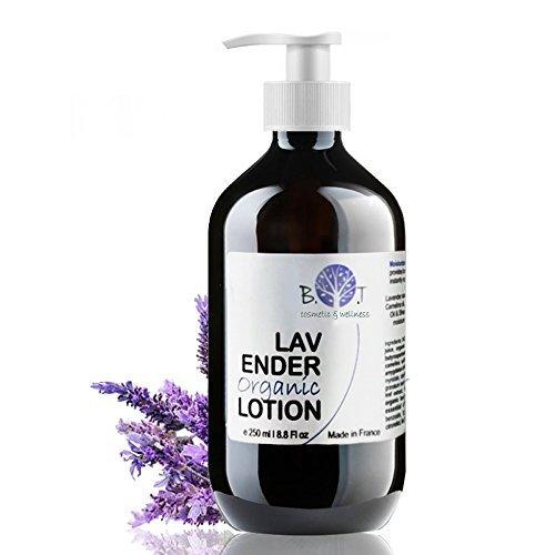 Mandel Feuchtigkeitsspendende Lotion (Organische Lavendel Feuchtigkeitsspendende Körperlotion 250 ml BIO Luxuriöses Körpermilch mit das beruhigen Basispflege für sehr trockene Haut Körperpflege Bodylotion mit ätherischem Lavendelöl)