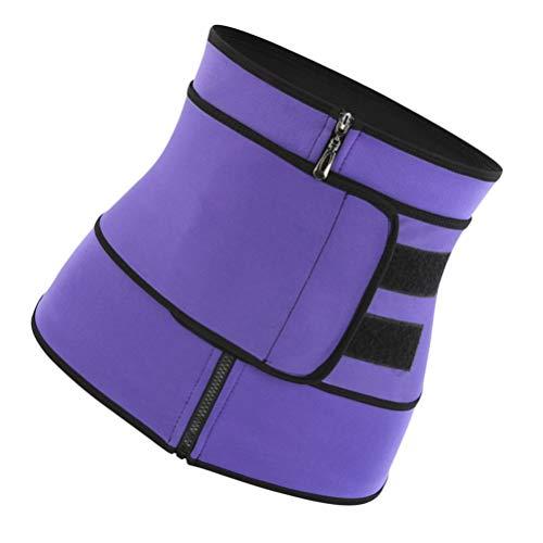SUPVOX frauen sport taille trimmer gürtel reißverschluss korsett abnehmen gürtel shapers bauchtrainer gürtel -s (lila)