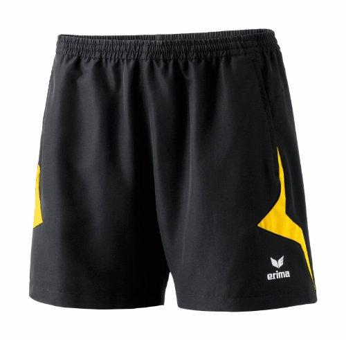 erima Damen Shorts Razor, schwarz/gelb, 46, 109113