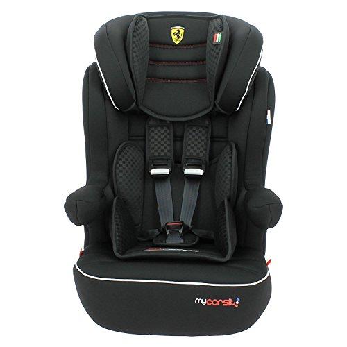 Mycarsit Siège Auto Ferrari, Groupe 1/2/3 (de 9 à36 kg), Noir