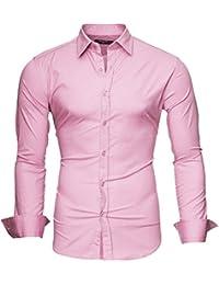 "Kayhan Hombre Camisa Slim Fit Modello ""Uni"""
