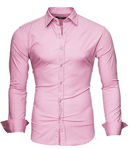 Kayhan Langarmhemd A.L.T Rosa L (Rosa Anzug Jacke Herren)