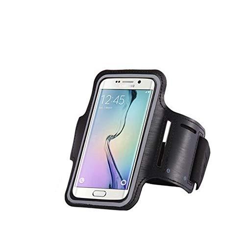 Fascia da Braccio Impermeabile Universale Sport da Palestra for Samsung Galaxy S7 / S6 / S5 / S4 / S3 A5 A3 Custodia for Cellulare Custodia for Chiavi Portachiavi Bracciale (Color : Black)