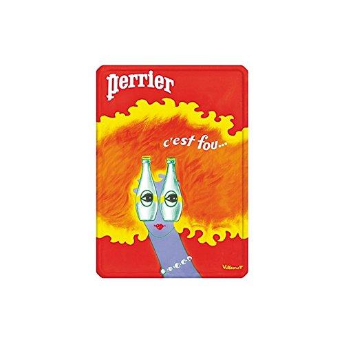 perrier-metal-plate-postcard