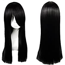 S-noilite 24 Full Wig for Fancy Dress Parties Cosplay Healthy Hair Long Straight Amine Wigs (Black) by S-noilite