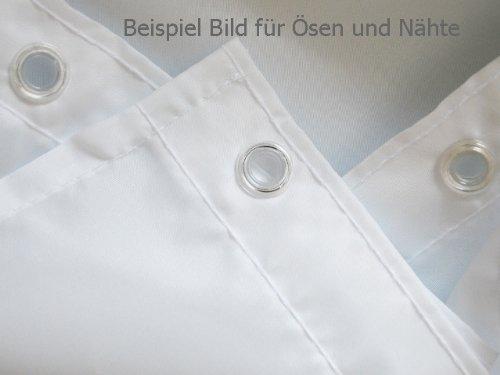 """Edler Textil Duschvorhang 120 x 200 cm """"Leuchtturm am Meer"""" Blau Weiss Grün inkl. Ringe - 3"""