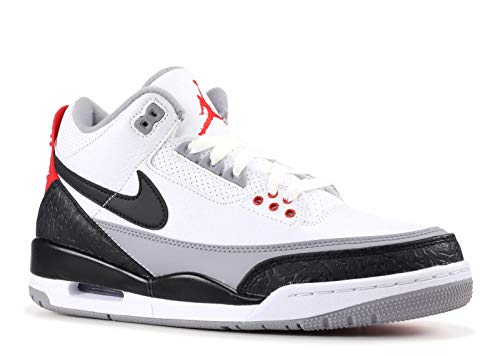 Jordan Herren Air 3 Retro Tinker Nrg Fitnessschuhe, Mehrfarbig (White/Black-Fire Red 160), 44 EU - Air Jordan 3 Retro