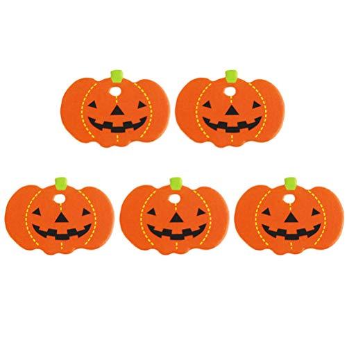 Amosfun 50er Kürbis Lesezeichen Halloween Geschenkanhänger Kartenanhänger Halloween Bastelanhänger
