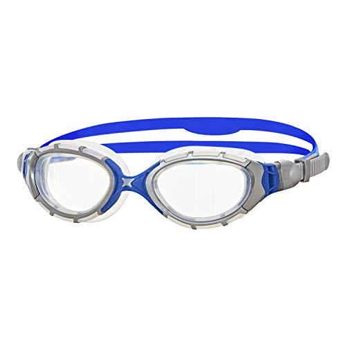 Zoggs Predator Flex Gafas de natación, Unisex, Plata/Azul/Claro, Talla Única
