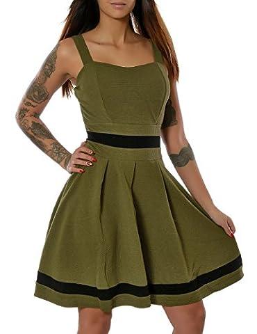 Damen Rockabilly 50er Jahre Sommer Kleid Pin-Up (weitere Farben) No
