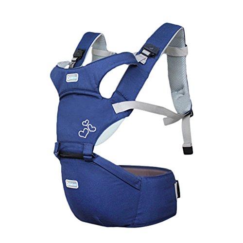 Kuuboo respirant Porte-bébé Hipseat 4 manières de transport avec assise  amovible, Baby Carrier fc49888abf8