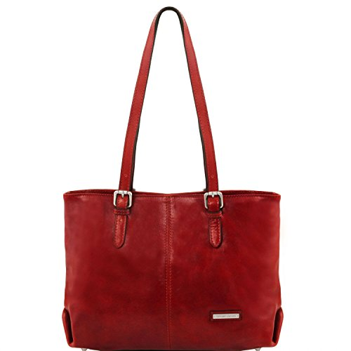 Tuscany Leather Annalisa Borsa shopping in pelle con due manici Rosso Rosso