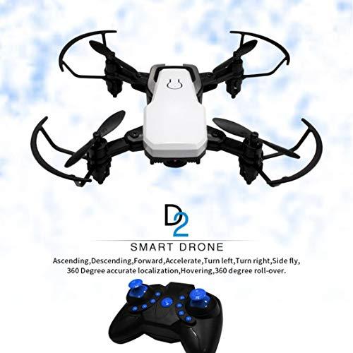 TAOtTAO Mini D2WH Faltbar mit Wifi FPV 0.3MP HD Kamera 2.4G 6-Achsen RC Quadcopter Drone (Weiß)