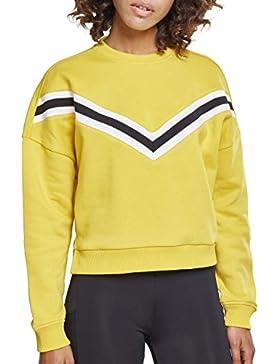 Urban Classics Ladies Inset Striped Crew, suéter para Mujer
