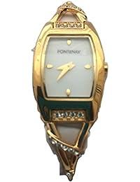 Fontenay - Montre à bracelet en pierre de 18 carats avec cadran blanc