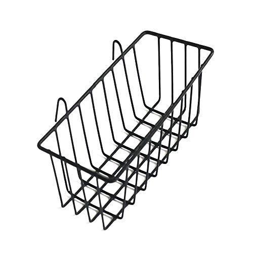 ANZOME Korb für Gitter Pinnwand, DIY Multi-Funktion Wandgitter Dekoration und Anzeige Allzweckkorb Hängenimhaus - Küche - Büro - Schwarz - 23 x 10 x 8 cm