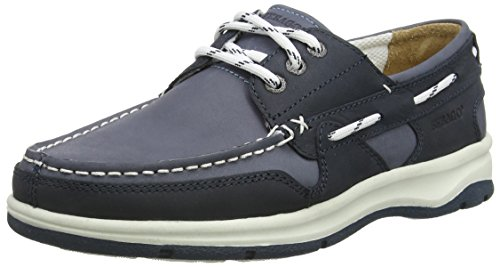Sebago - BRICE THREE EYE, Scarpe da vela uomo, color Blu (BLUE/NAVY NUBUCK), talla 43