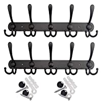 Dosenstek 15 Hooks Stainless Steel Coat Robe Hat Clothes Wall Mount Hook Hanger Towel Rack