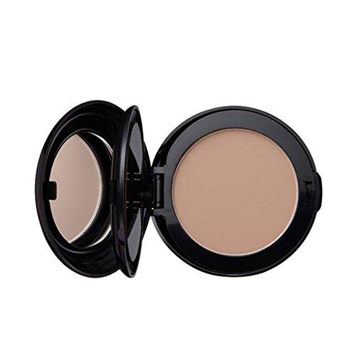 MagiDeal Make-up Foundation Abdeckcreme, Concealer Puder, langanhaltender Abdeckung und Highlighter Pulver - Natürliche Farbe -
