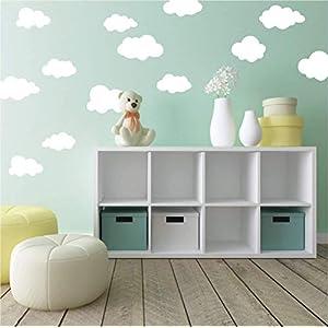 Wandaufkleber 20 Wolken Wandtattoo Wandsticker Sticker Wanddeko Kinderzimmer Himmel