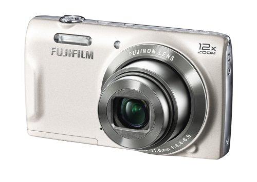 Fujifilm FinePix T500 Digitalkamera (16,2 Megapixel, 12-fach opt. Zoom, 6,9 cm (2,7 Zoll) LCD CCD Sensor, bildstabilisiert, USB 2.0) weiß Ccd 2,7