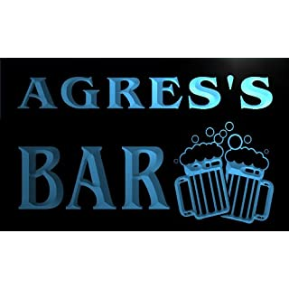 w127188-b AGRES Name Home Bar Pub Beer Mugs Cheers Neon Light Sign