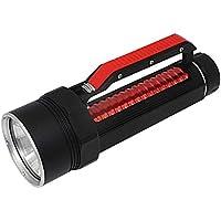 WXGZS Linterna LED, XHP70.2 Salto De La Linterna De La Antorcha 26650 XHP70 Amarillo/Blanco Luz De Pesca Submarina De Buceo Llevó La Lámpara