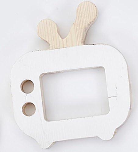 Jeux de de de la Petite enfance Bois TV Toy Décoration Creative Décoration  s Chambre Décoration Photo Accessoires (Blanc)   Vente En Ligne  30cf7d