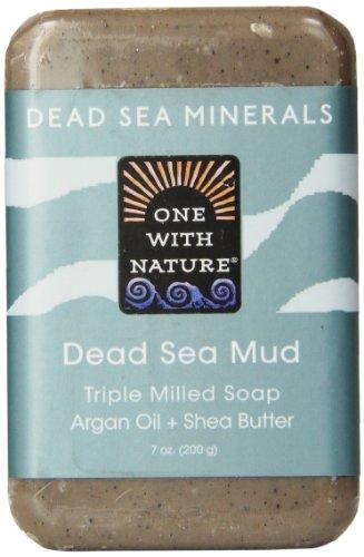 One With Nature Pain de savon rajeunissant à base de boue de la Mer morte - Avec sels minéraux de la Mer morte et beurre de karité - 200 g