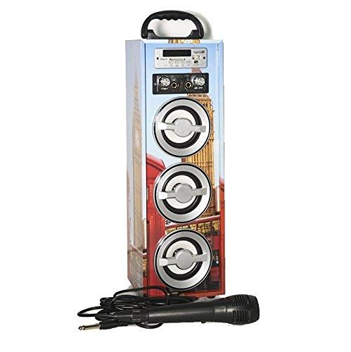 MovilCom Altavoz inalámbrico DigiVolt HIFI-21 City con Radio FM Bluetooth MP3 Micrófono Karaoke (Big Ben)