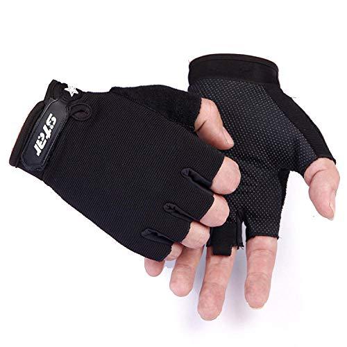 Motorrad Motorradhandschuhe Half Finger Outdoor Sports Handschuhe Anti Slip Atmungsaktives Material @ S, für Motorrad Radfahren Klettern