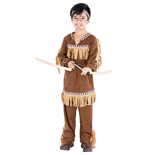 TecTake dressforfun Jungenkostüm Indianer | Wundervolle Indianerverkleidung mit aufgenähten Franzen | inkl. Haarband (5-7 Jahre | Nr. - Franzen Kostüm