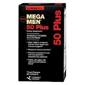 GNC Men's Mega Men 50 Plus Multivitamin, Timed Release Caplets
