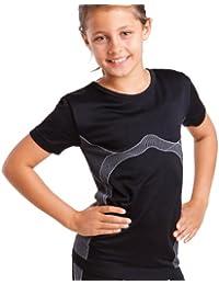 Kinder Sport Thermo Funktionswäsche Hemd halbarm Seamless von celodoro - Ski-, Thermo- & Funktionshose ohne störende Nähte mit Elasthan - verschiedene Farben