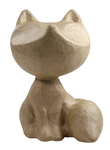 äger XS aus Pappmaché, mini Fuchs, 8,5 x 6,5 x 10 cm, zum Verzieren (Spaß, Einfache Handwerk Für Halloween)