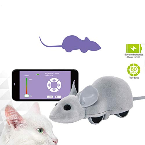 Mobiltelefon Elektrische Steuerung Maus Elektrisches Katzenspielzeug Smartphone Universelles Haustierspielzeug Katzenminze senden ()